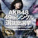 49th AKB48総選挙結果 指原莉乃1位